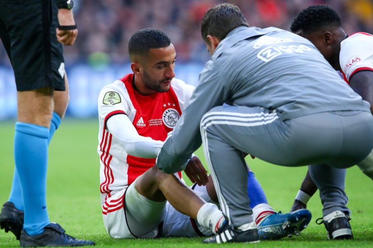 Hakim Ziyech to miss at least Groningen and PSV games, out for 2-4 weeks
