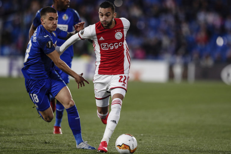 Hakim Ziyech will miss the return match versus Getafe